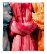 Three Tie-dye Knots Fleece Blanket
