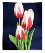 Three Tulips Fleece Blanket
