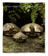 Three Turtles Fleece Blanket