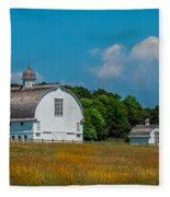 Three White Barns Fleece Blanket