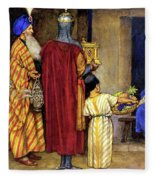 Three Wise Men Bearing Gifts Fleece Blanket