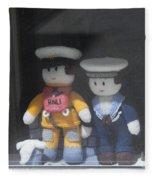 Through A Cornish Window Fleece Blanket