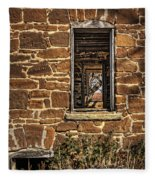Through Doors And Windows - Abandoned House Fleece Blanket
