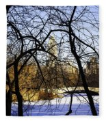 Through The Branches 3 - Central Park - Nyc Fleece Blanket
