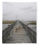 Through The Fog Fleece Blanket