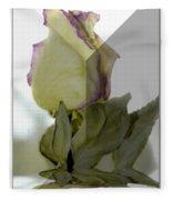 Through The Prism  A Rose Fleece Blanket