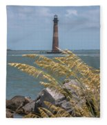 Through The Sea Grass Fleece Blanket