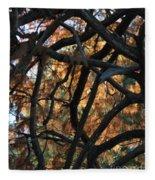 Through The Trees 2 Fleece Blanket