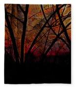 Through The Trees Fleece Blanket