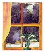 Through The Window Fleece Blanket
