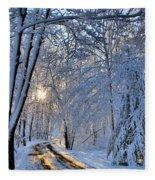 Through The Woods Fleece Blanket