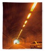 Thru The Tunnel Fleece Blanket