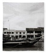 Thu Bon River Hoi An Fleece Blanket