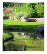 Thula Garden's Water Reflections Fleece Blanket