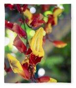 Thunbergia Mysorensis - Trumpetvine Fleece Blanket