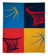 Thunder Ball And Hoop Fleece Blanket