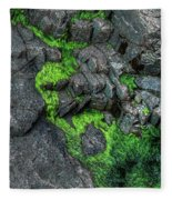 Thunder Hole Algae Fleece Blanket