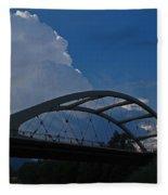 Thunder Over The Rogue River Bridge Fleece Blanket