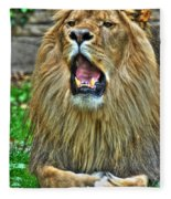 Thunder Vocals Of Lazy Boy At The Buffalo Zoo Fleece Blanket