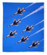 Thunderbirds Jet Team Flying Fast Fleece Blanket
