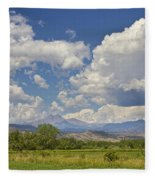 Thunderstorm Clouds Boiling Over The Colorado Rocky Mountains Fleece Blanket