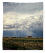 Thunderstorm On The Plains Fleece Blanket