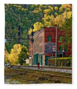 Thurmond Wv Fleece Blanket
