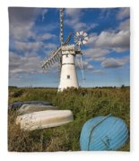 Thurne Dyke Windpump Norfolk Fleece Blanket