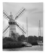 Thurne Windmill II Fleece Blanket