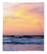 Topsail Island Pastel Sunrise Fleece Blanket