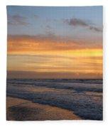 Topsail Island Sunup 2 Fleece Blanket