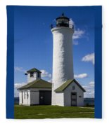 Tibbetts Point Lighthouse Fleece Blanket