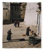 Tibet 2x2x2 By Jrr Fleece Blanket