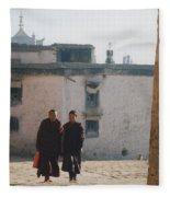 Tibet Monks 6 Fleece Blanket