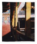 Tibet Potala Palace 7 Fleece Blanket