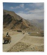 Tibet Rural Fleece Blanket