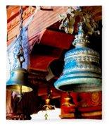 Tibetan Bells Fleece Blanket