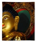Tibetan Buddha 8 Fleece Blanket