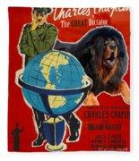 Tibetan Mastiff Art Canvas Print - The Great Dictator Movie Poster Fleece Blanket