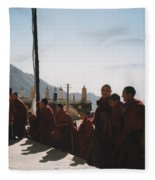 Tibetan Monks 2 Fleece Blanket