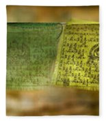 Tibetan Prayer Flags Fleece Blanket