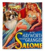 Tibetan Spaniel Art - Salome Movie Poster Fleece Blanket