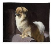 Tibetan Spaniel Painting Fleece Blanket