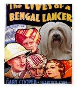 Tibetan Terrier Art - The Lives Of A Bengal Lancer Movie Poster Fleece Blanket