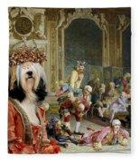 Tibetan Terrier Art Canvas Print Fleece Blanket