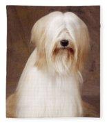 Tibetan Terrier Dog Fleece Blanket