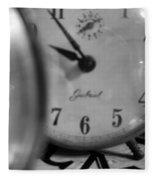 Tick Tock Goes The Clock Fleece Blanket