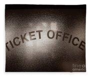 Ticket Office Window Fleece Blanket