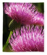 Tickled Thistle Fleece Blanket