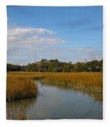 Tidal Creek Ebb And Flow Fleece Blanket